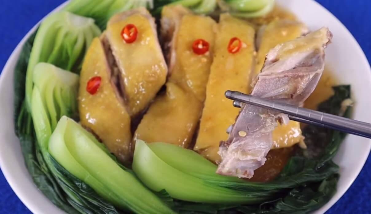 Món gà hấp cải thìa thơm ngon hấp dẫn