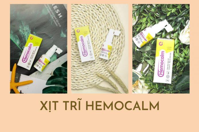 Hemocalm - xịt cho người bệnh trĩ