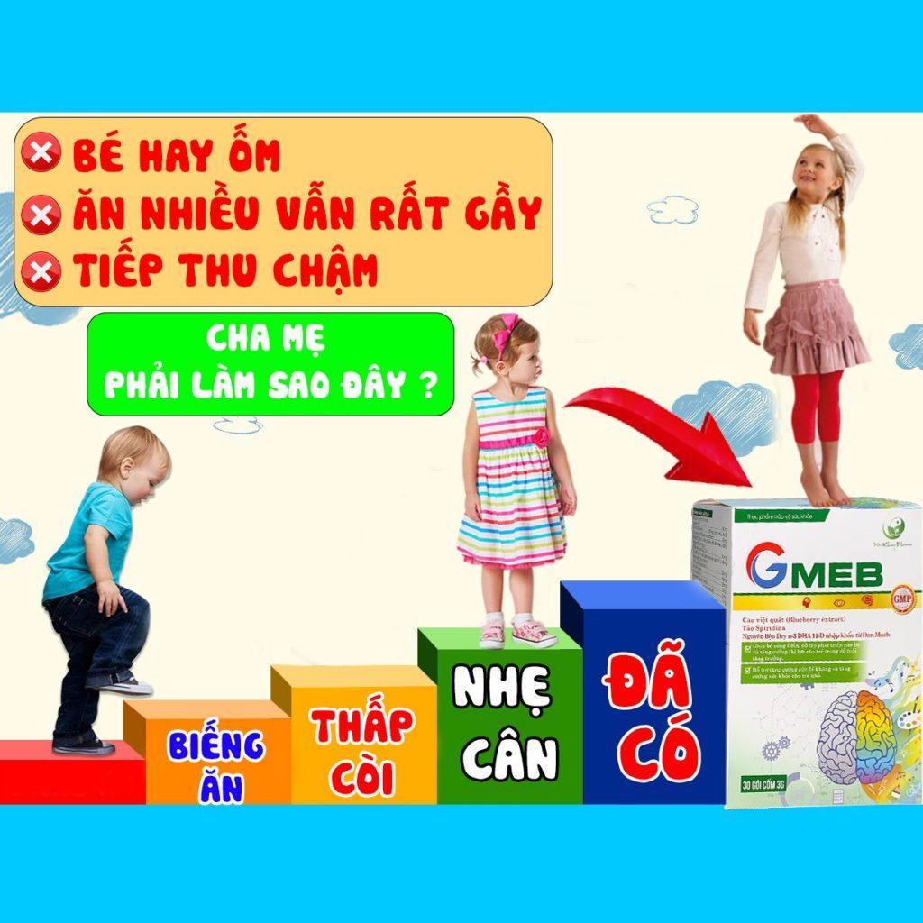Cốm Gmeb - bổ sung dinh dưỡng cho trẻ biếng ăn